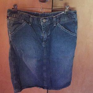 Polo Ralph Lauren laced back denim blue jean skirt